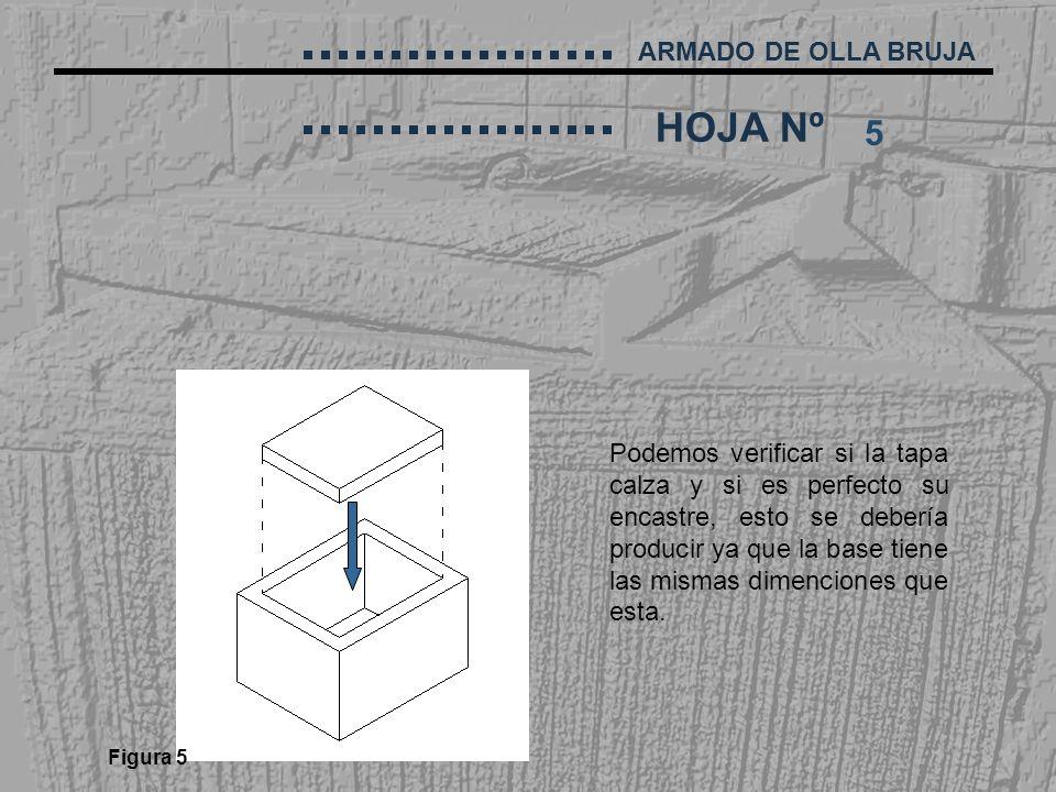 5 Podemos verificar si la tapa calza y si es perfecto su encastre, esto se debería producir ya que la base tiene las mismas dimenciones que esta.