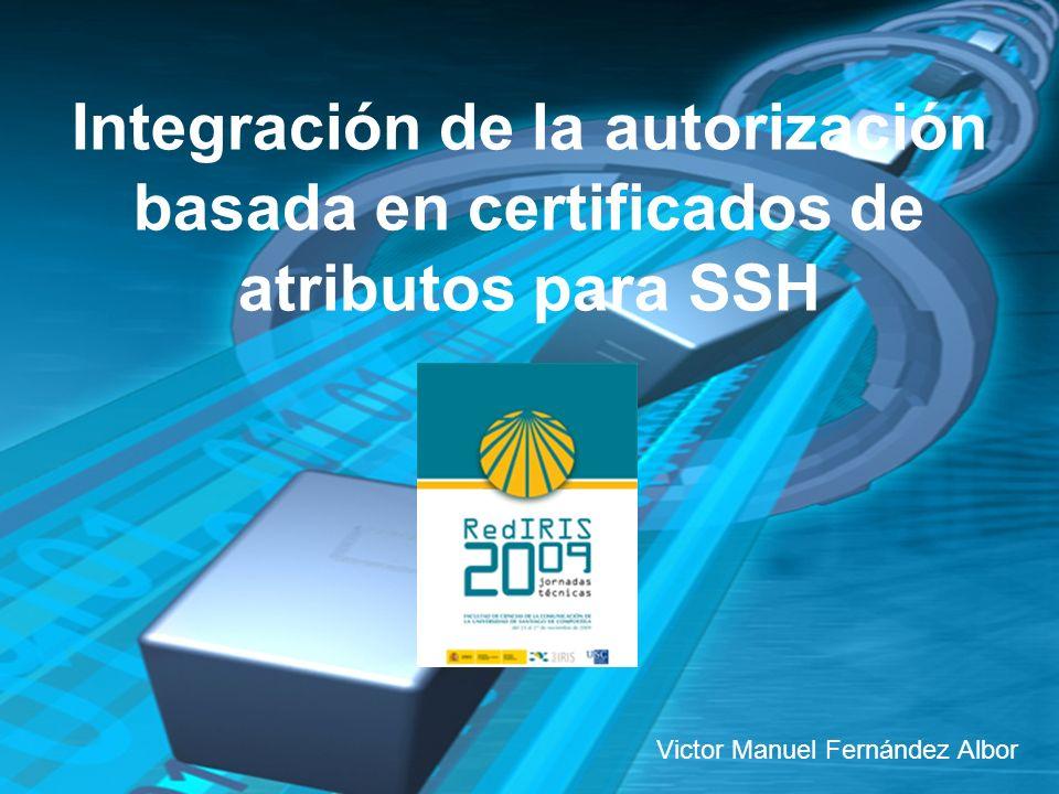 11 Integración de la autorización basada en certificados de atributos para SSH.