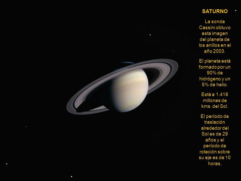 SATURNO La sonda Cassini obtuvo esta imagen del planeta de los anillos en el año 2003.