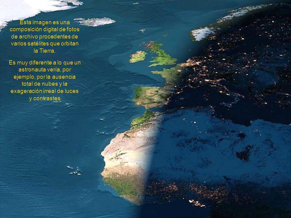 Esta imagen es una composición digital de fotos de archivo procedentes de varios satélites que orbitan la Tierra.