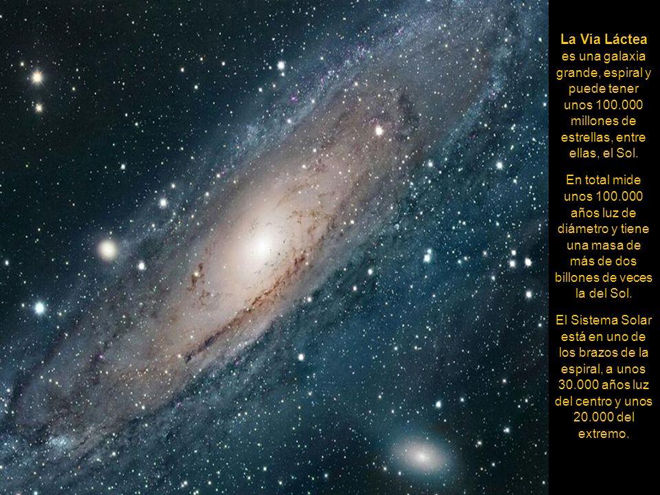 La Via Láctea es una galaxia grande, espiral y puede tener unos 100