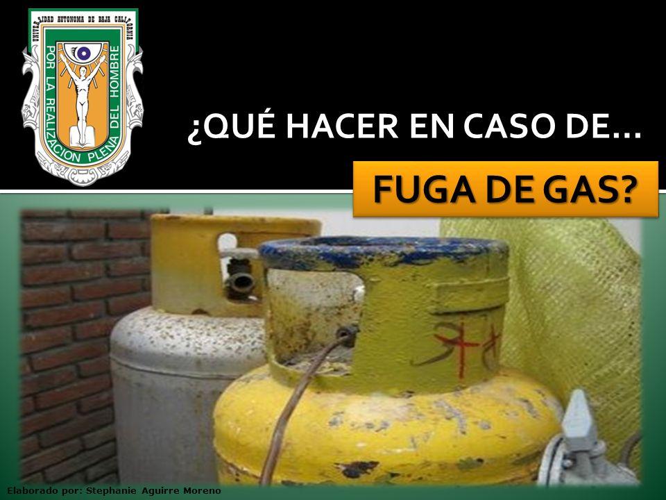 kh FUGA DE GAS ¿QUÉ HACER EN CASO DE…