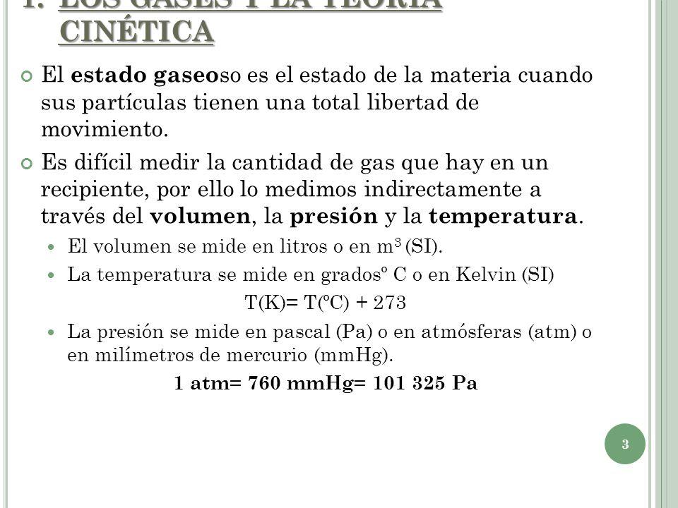 LOS GASES Y LA TEORÍA CINÉTICA