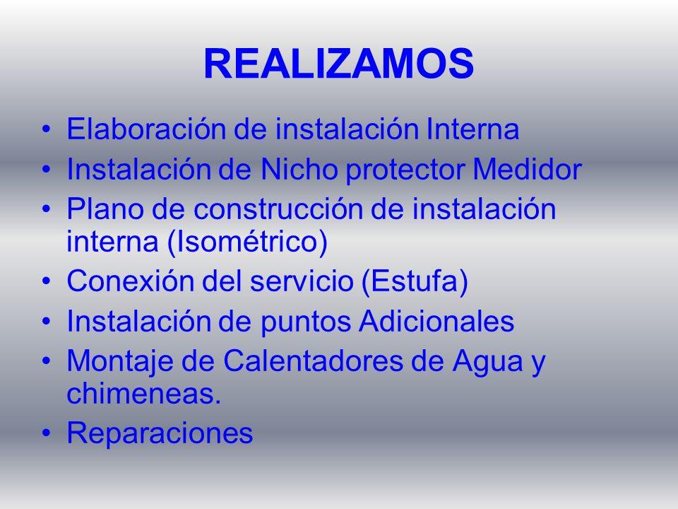 REALIZAMOS Elaboración de instalación Interna