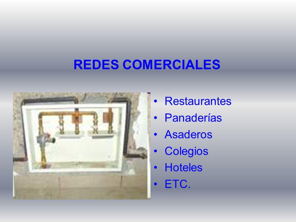 REDES COMERCIALES Restaurantes Panaderías Asaderos Colegios Hoteles