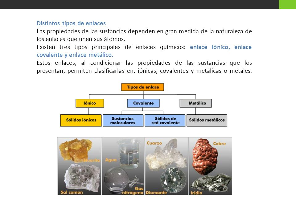 Distintos tipos de enlaces