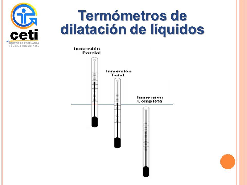 Termómetros de dilatación de líquidos