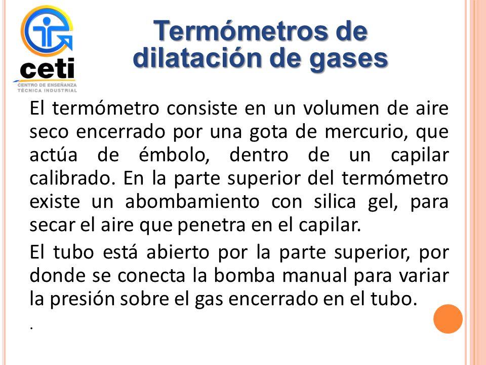 Termómetros de dilatación de gases