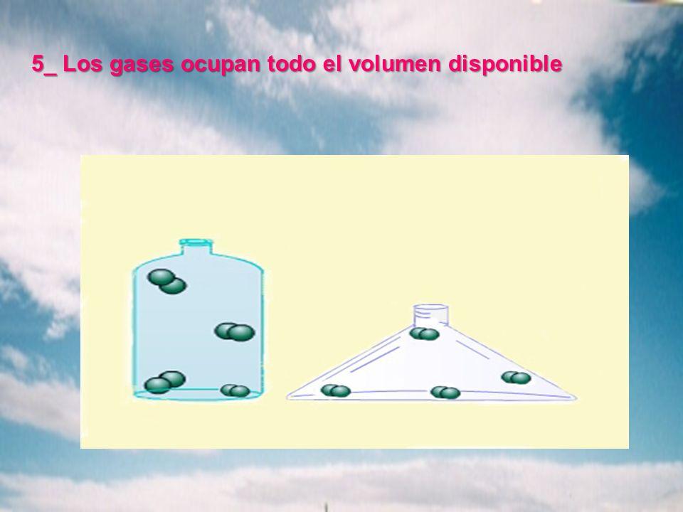 5_ Los gases ocupan todo el volumen disponible
