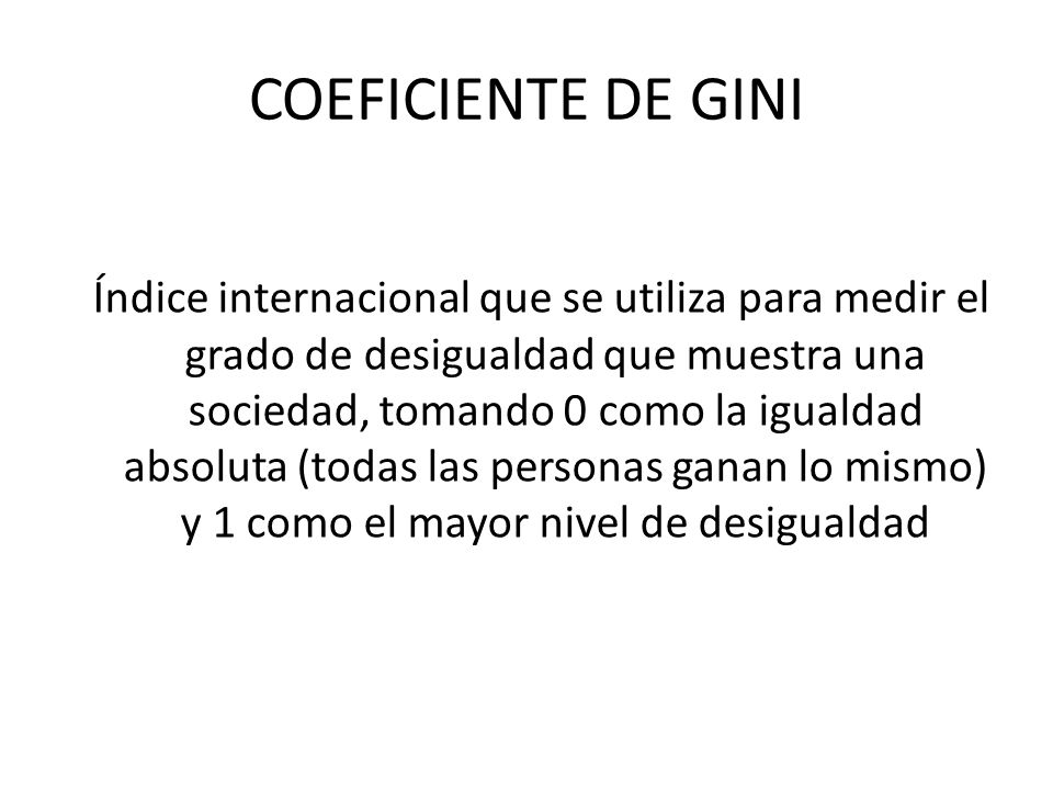 COEFICIENTE DE GINI