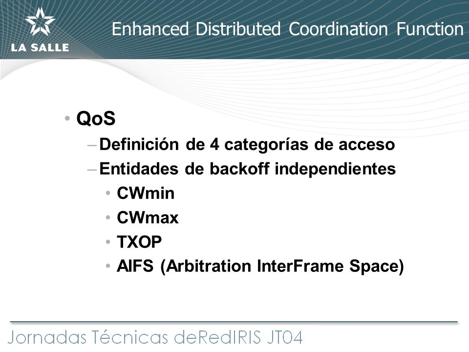 Enhanced Distributed Coordination Function