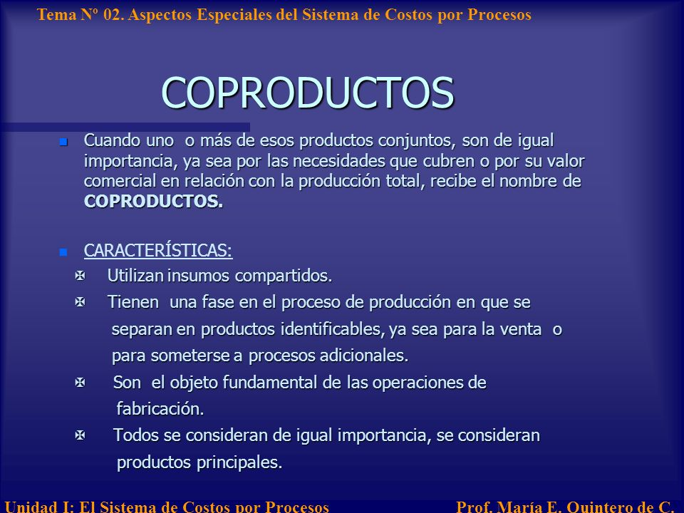 COPRODUCTOS