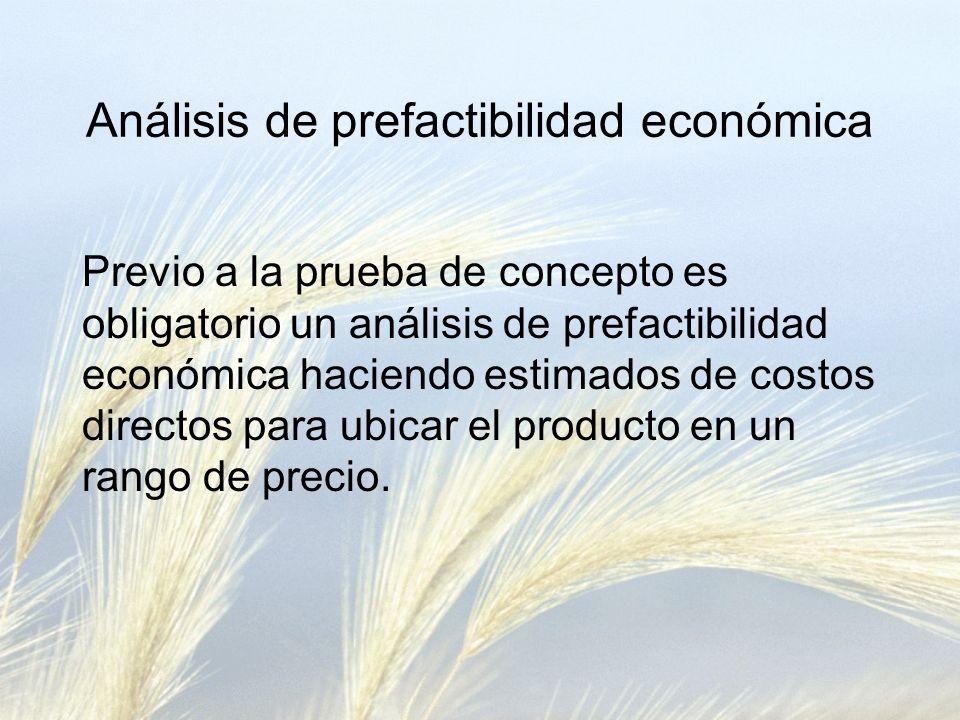 Análisis de prefactibilidad económica