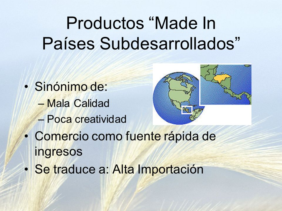 Productos Made In Países Subdesarrollados