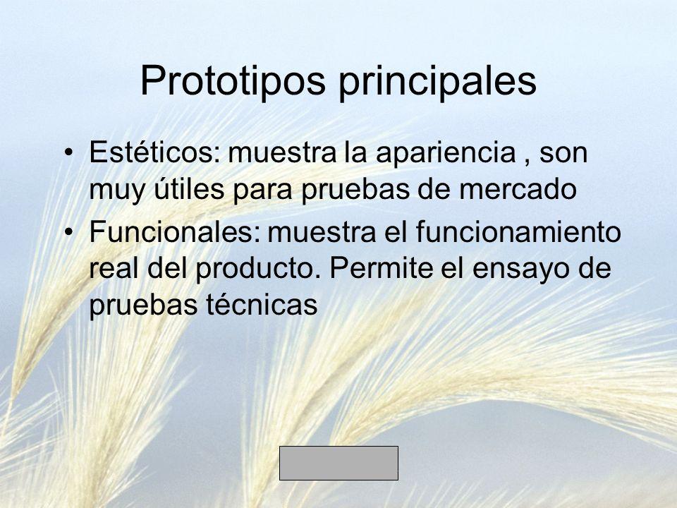 Prototipos principales