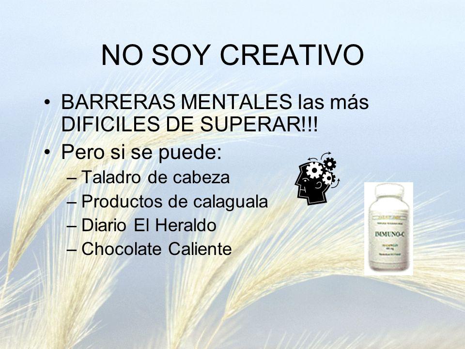 NO SOY CREATIVO BARRERAS MENTALES las más DIFICILES DE SUPERAR!!!