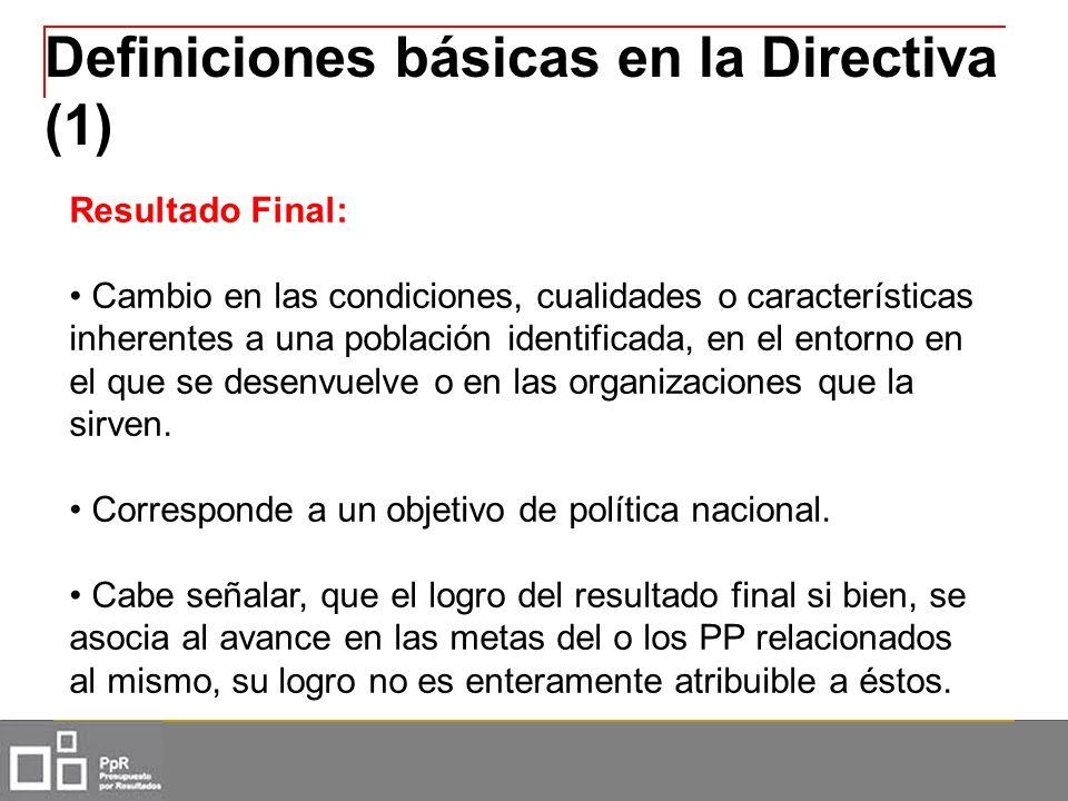 Definiciones básicas en la Directiva (1)
