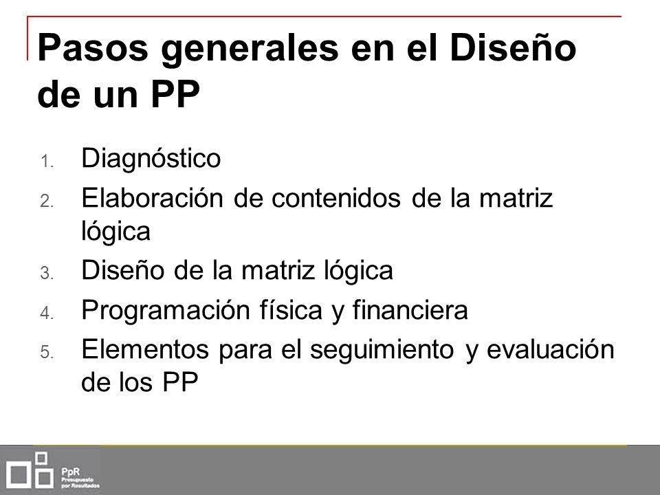Pasos generales en el Diseño de un PP