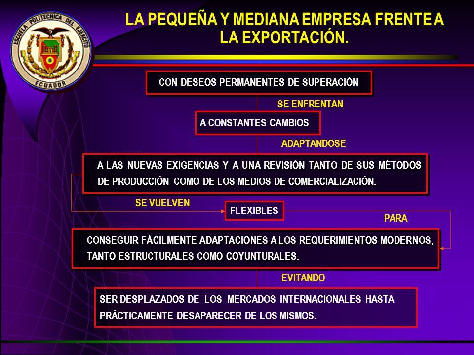 LA PEQUEÑA Y MEDIANA EMPRESA FRENTE A LA EXPORTACIÓN.