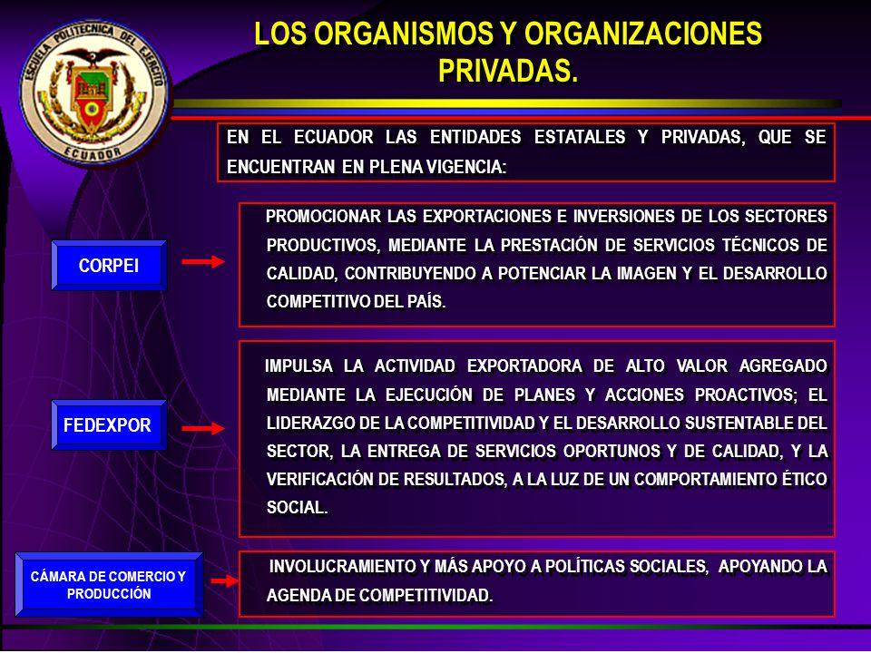 LOS ORGANISMOS Y ORGANIZACIONES PRIVADAS.
