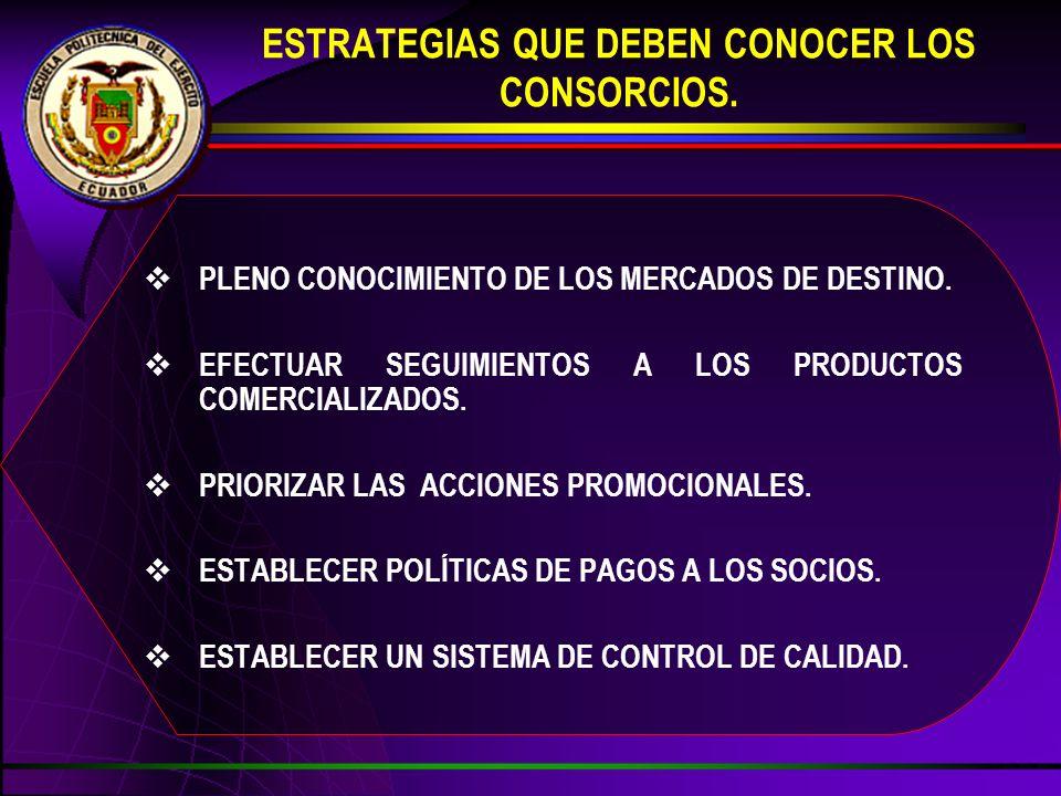 ESTRATEGIAS QUE DEBEN CONOCER LOS CONSORCIOS.
