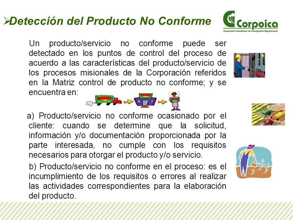 Detección del Producto No Conforme