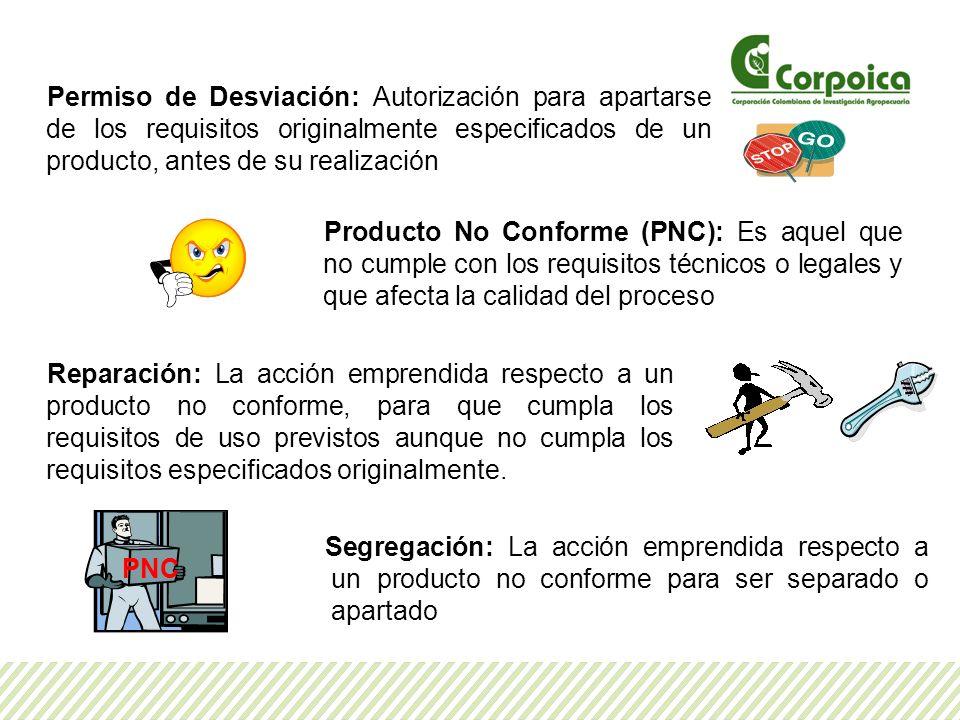 Permiso de Desviación: Autorización para apartarse de los requisitos originalmente especificados de un producto, antes de su realización