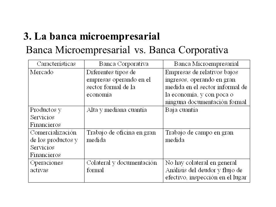 3. La banca microempresarial