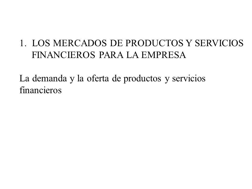 LOS MERCADOS DE PRODUCTOS Y SERVICIOS