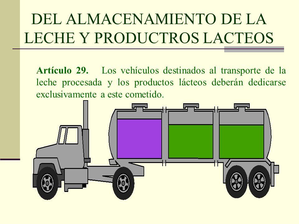 DEL ALMACENAMIENTO DE LA LECHE Y PRODUCTROS LACTEOS