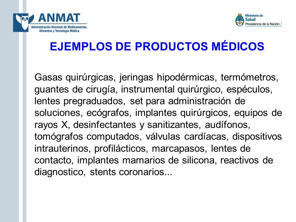 EJEMPLOS DE PRODUCTOS MÉDICOS