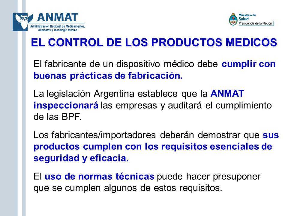 EL CONTROL DE LOS PRODUCTOS MEDICOS