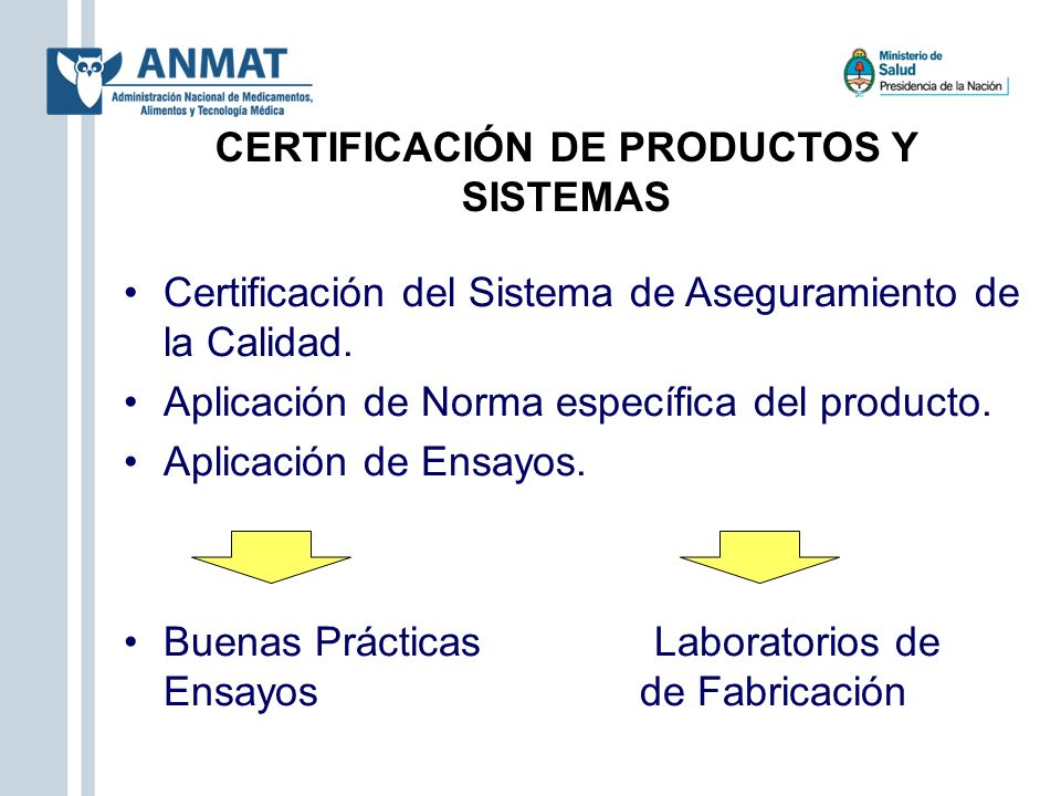 CERTIFICACIÓN DE PRODUCTOS Y SISTEMAS