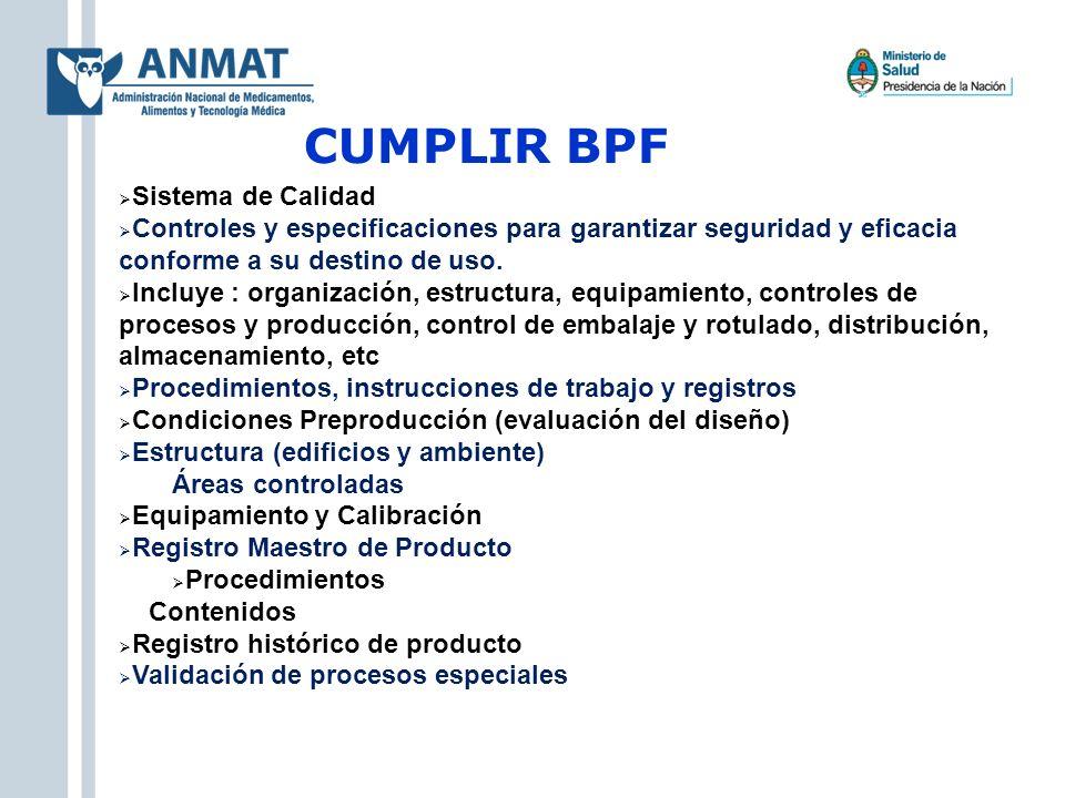 CUMPLIR BPF Sistema de Calidad