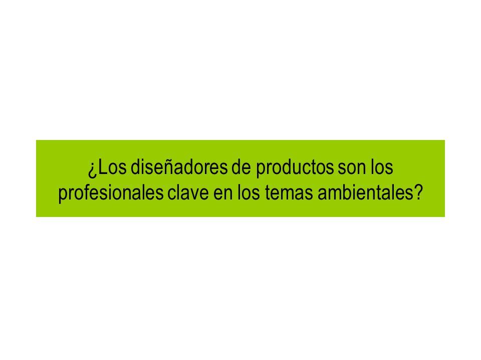 ¿Los diseñadores de productos son los profesionales clave en los temas ambientales