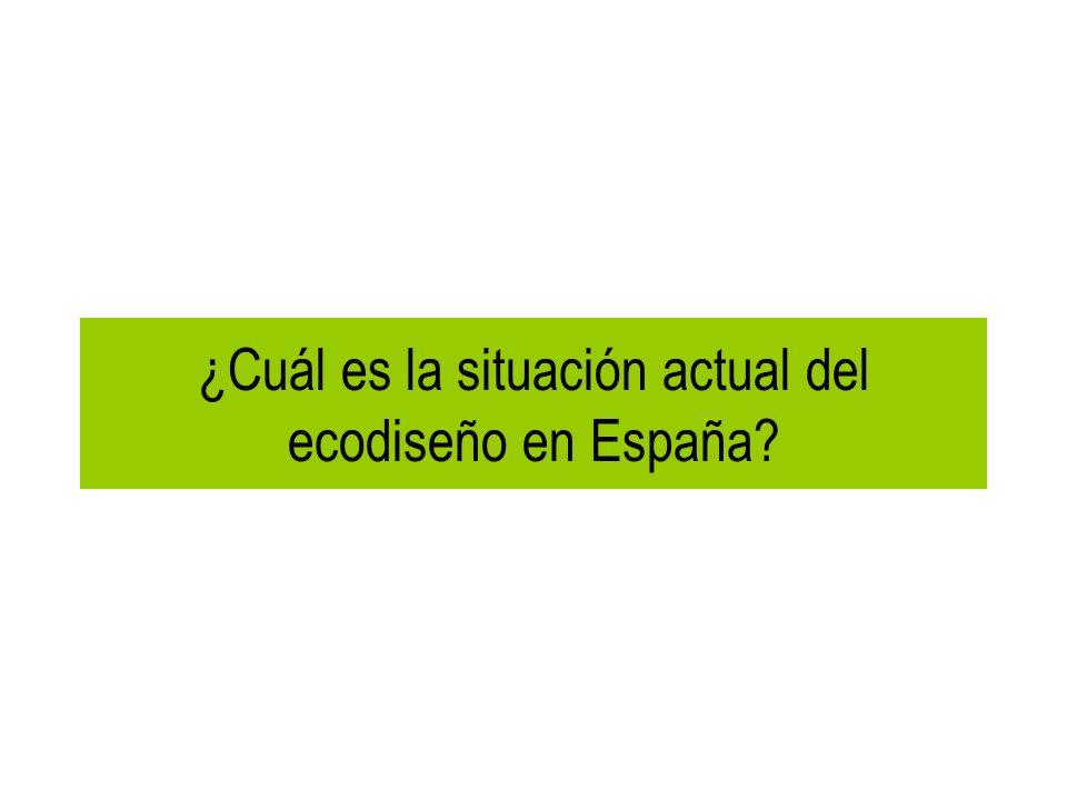 ¿Cuál es la situación actual del ecodiseño en España