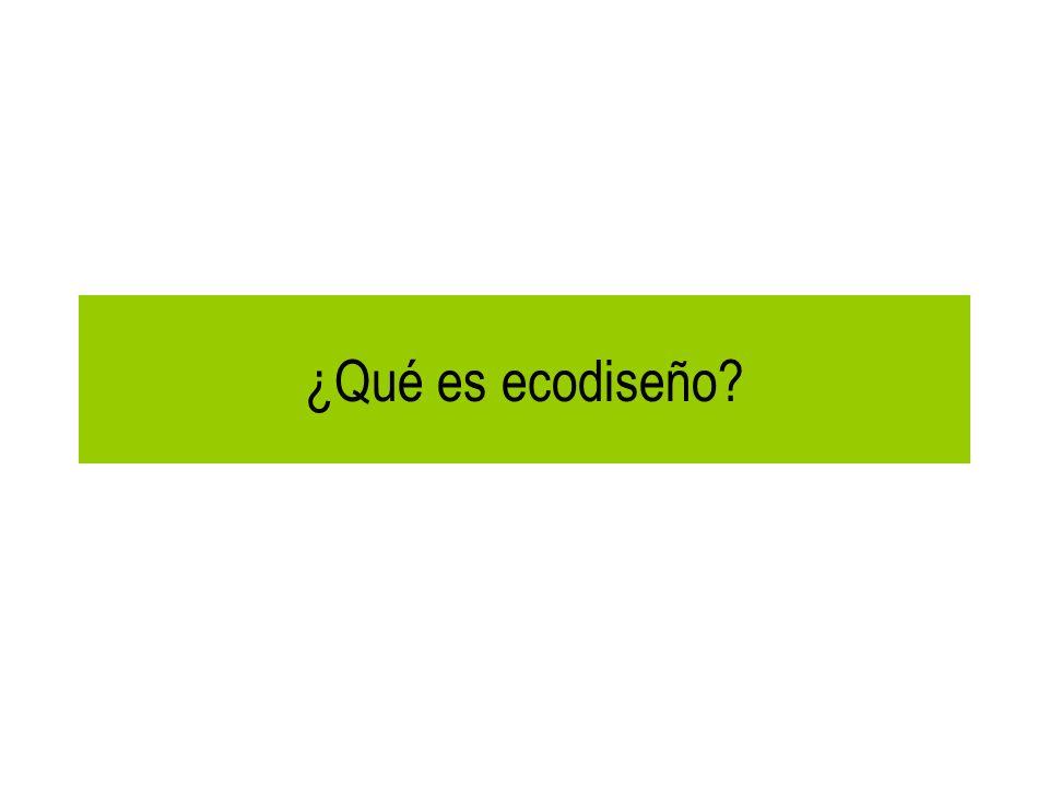 ¿Qué es ecodiseño