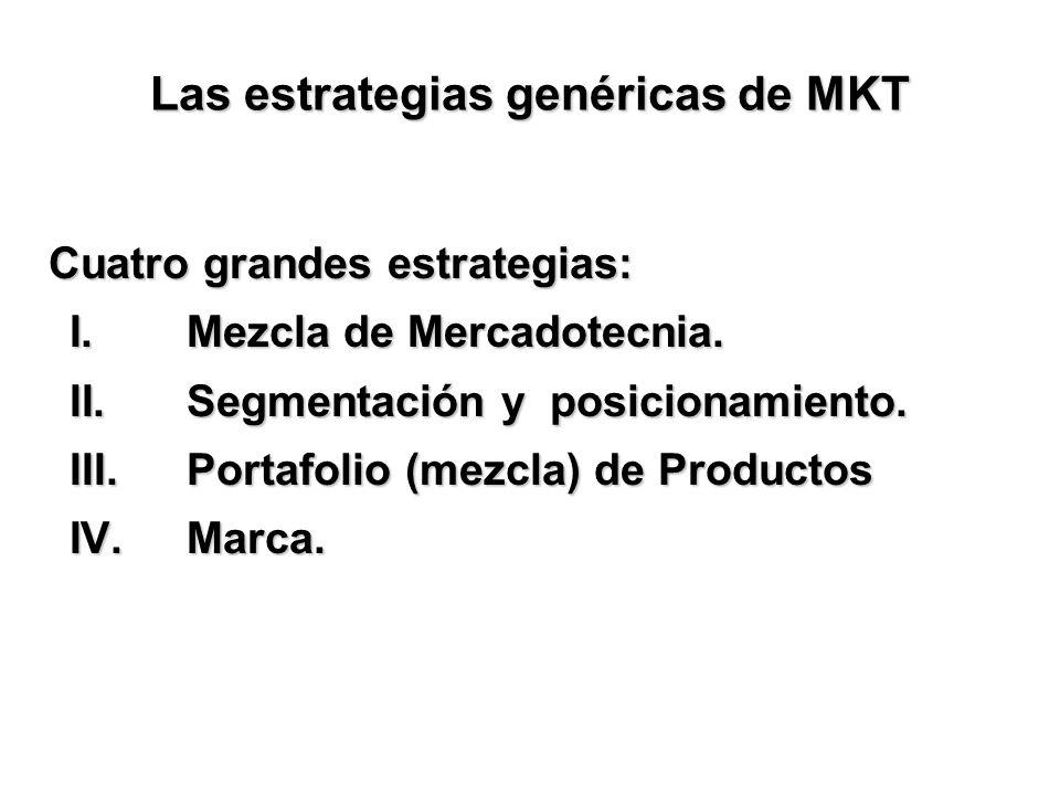 Las estrategias genéricas de MKT