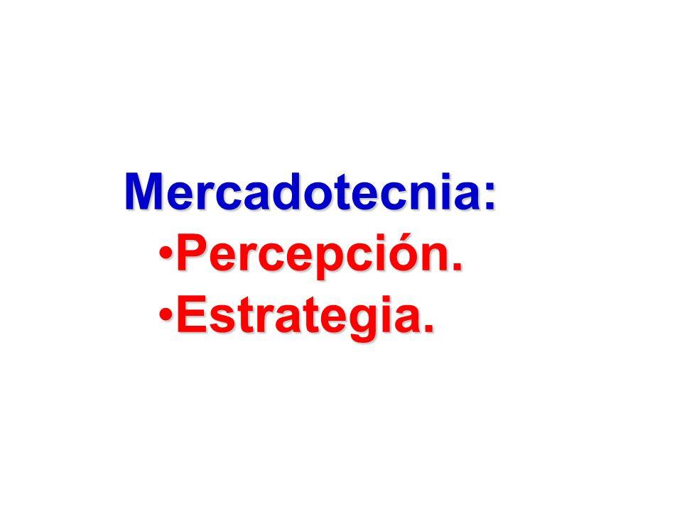 Mercadotecnia: Percepción. Estrategia.