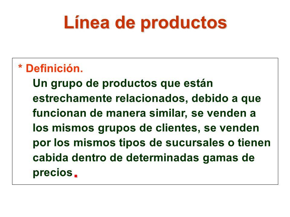 Línea de productos . * Definición.