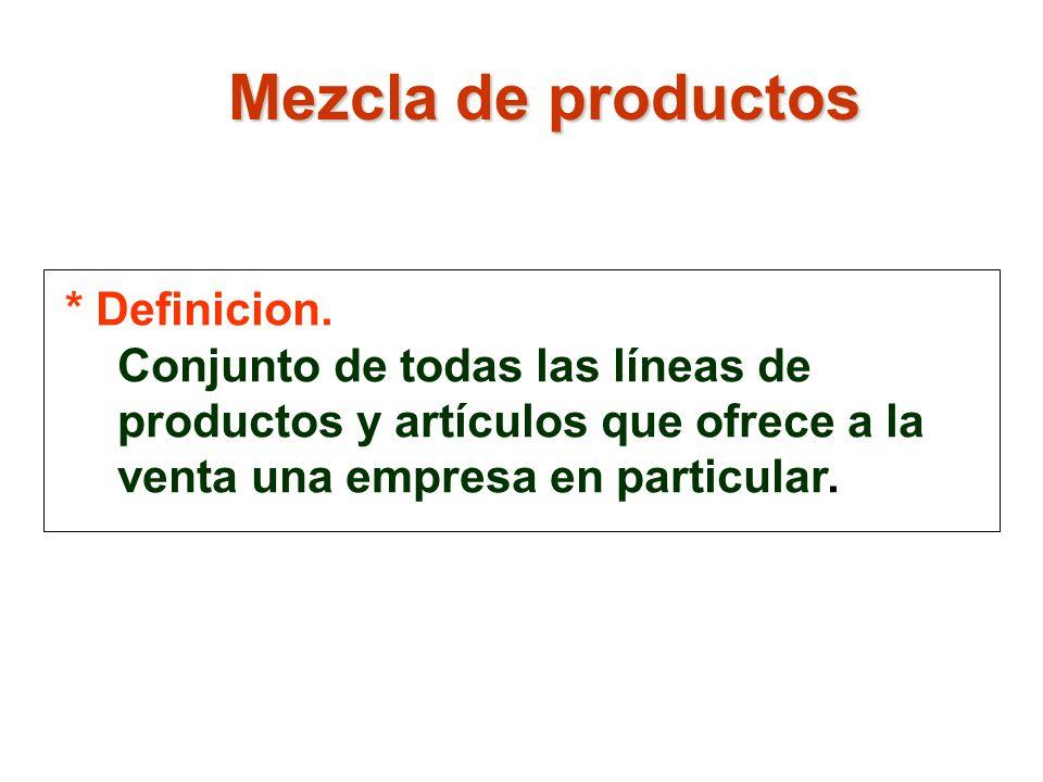 Mezcla de productos * Definicion.