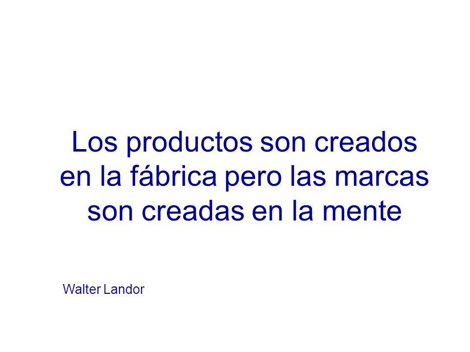 Los productos son creados en la fábrica pero las marcas son creadas en la mente