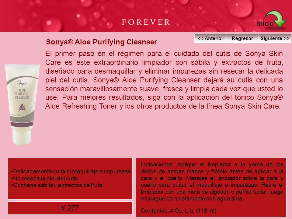 Sonya® Aloe Purifying Cleanser