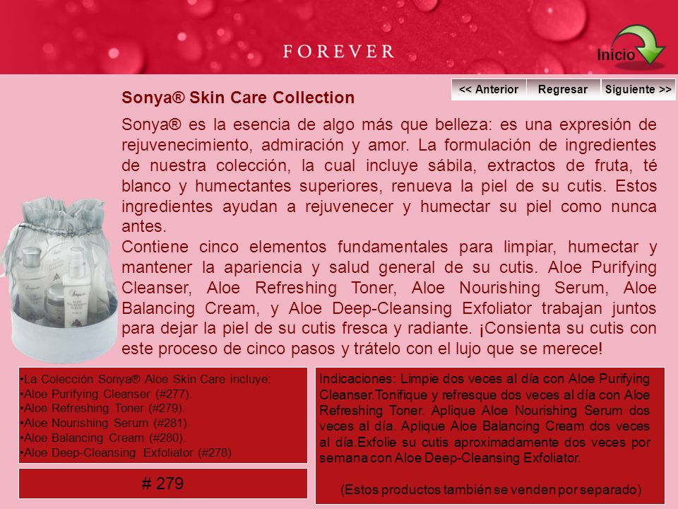 Sonya® Skin Care Collection