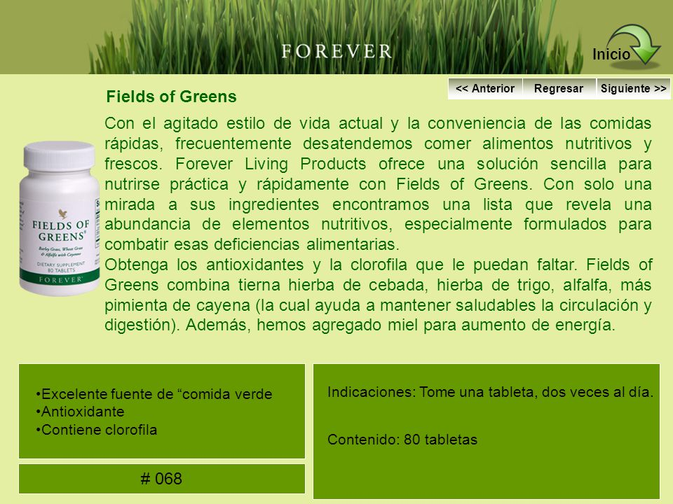 Inicio Fields of Greens