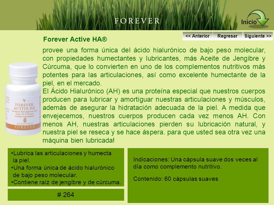 Inicio Forever Active HA®