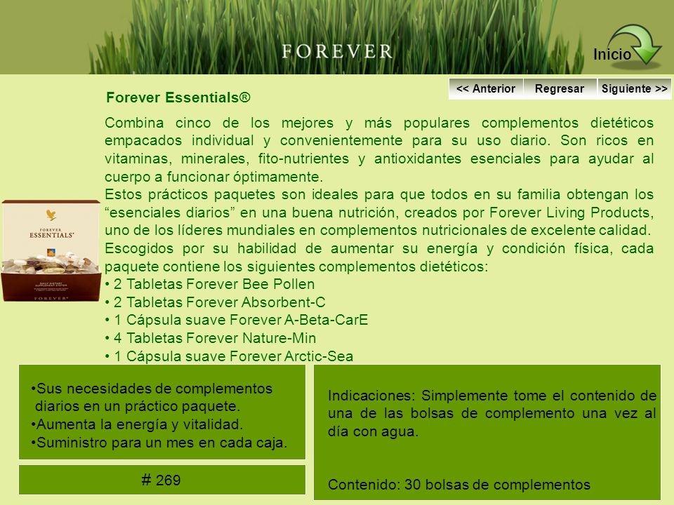 Inicio # 269 Forever Essentials®