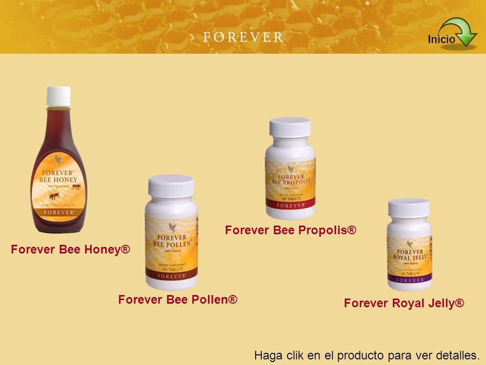 Inicio Forever Bee Propolis® Forever Bee Honey® Forever Bee Pollen® Forever Royal Jelly® Haga clik en el producto para ver detalles.