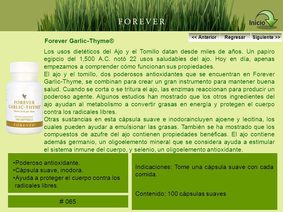 Inicio # 065 Forever Garlic-Thyme®