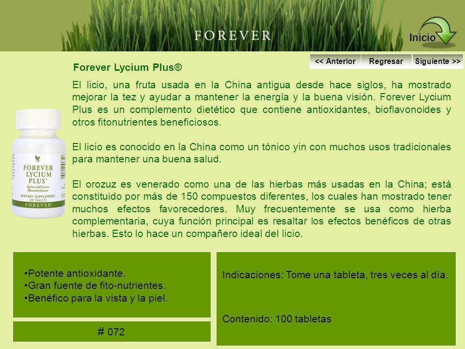 Inicio # 072 Forever Lycium Plus®